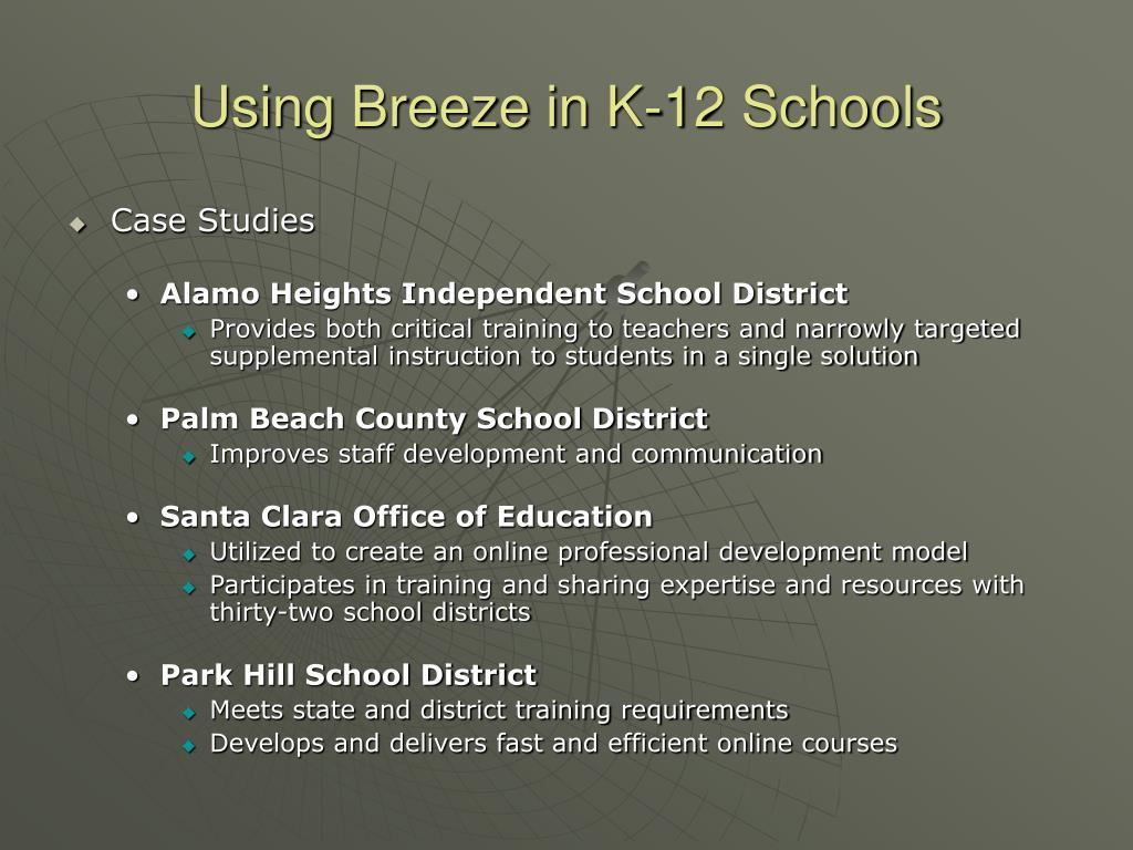 Using Breeze in K-12 Schools