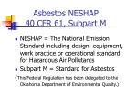 asbestos neshap 40 cfr 61 subpart m