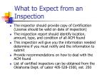 what to expect from an inspection