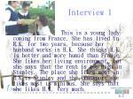 interview 1
