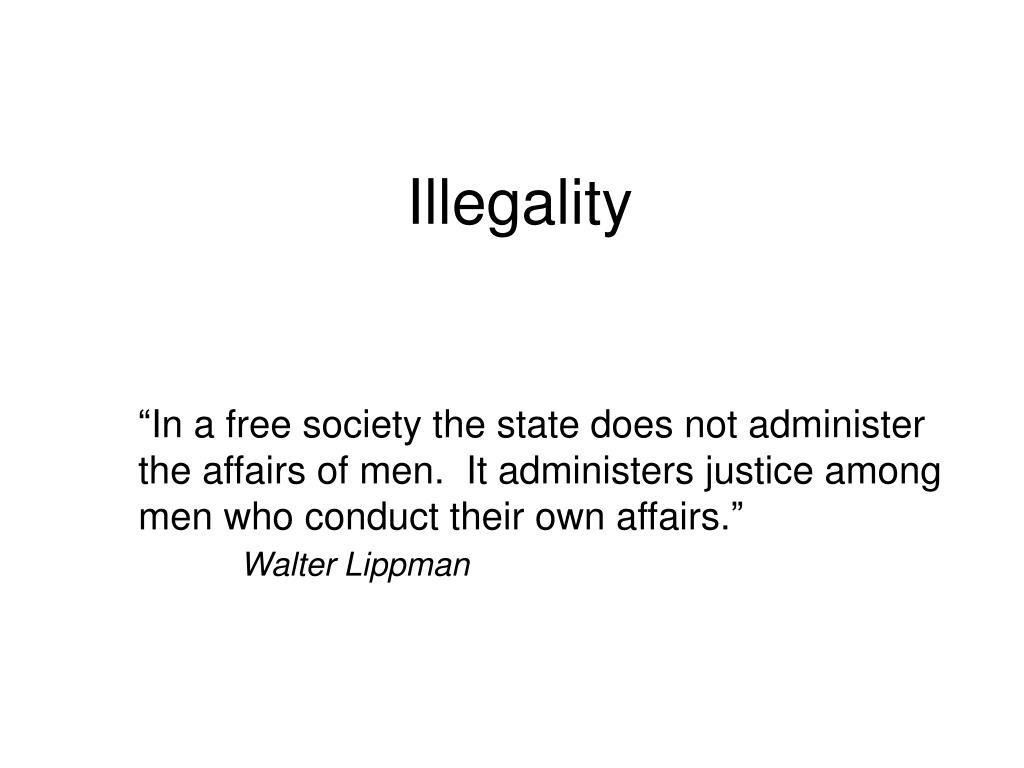 illegality l.