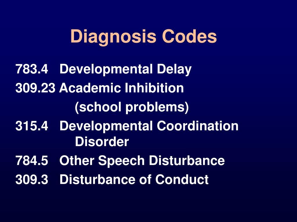 Diagnosis Codes