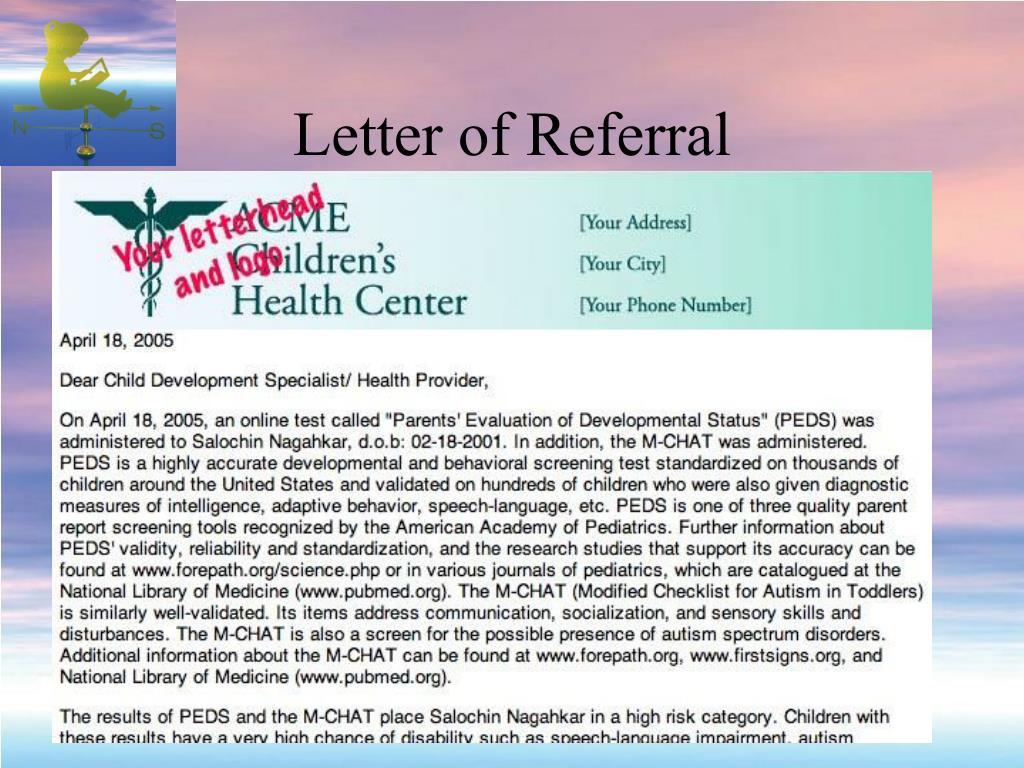 Letter of Referral