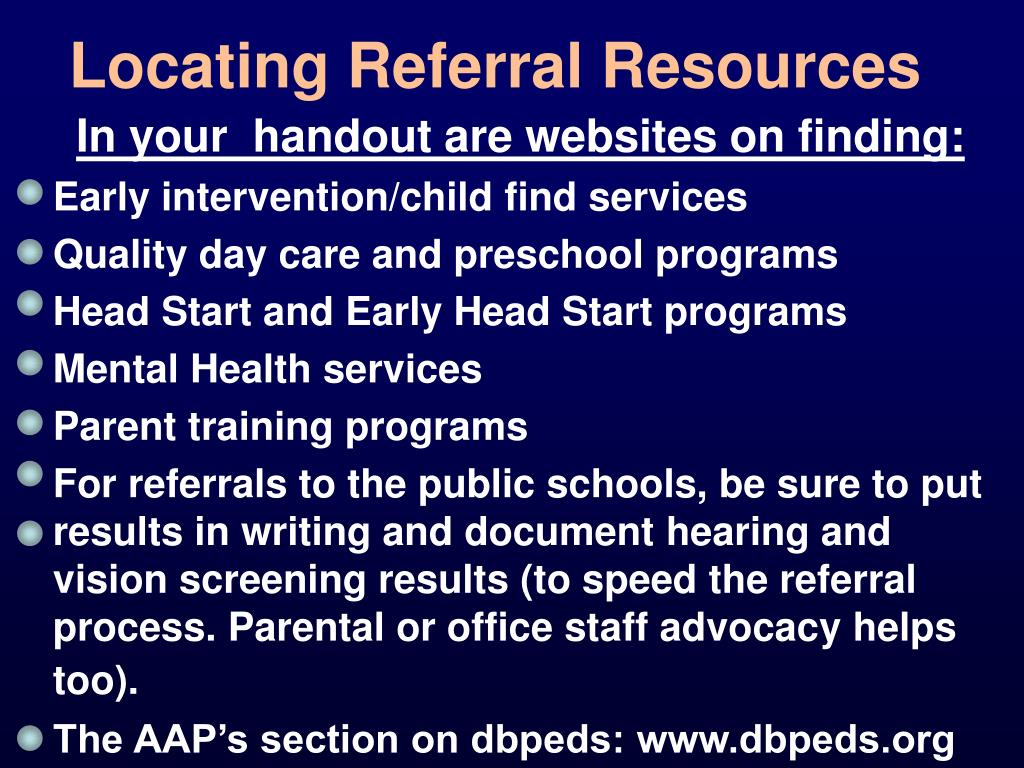 Locating Referral Resources