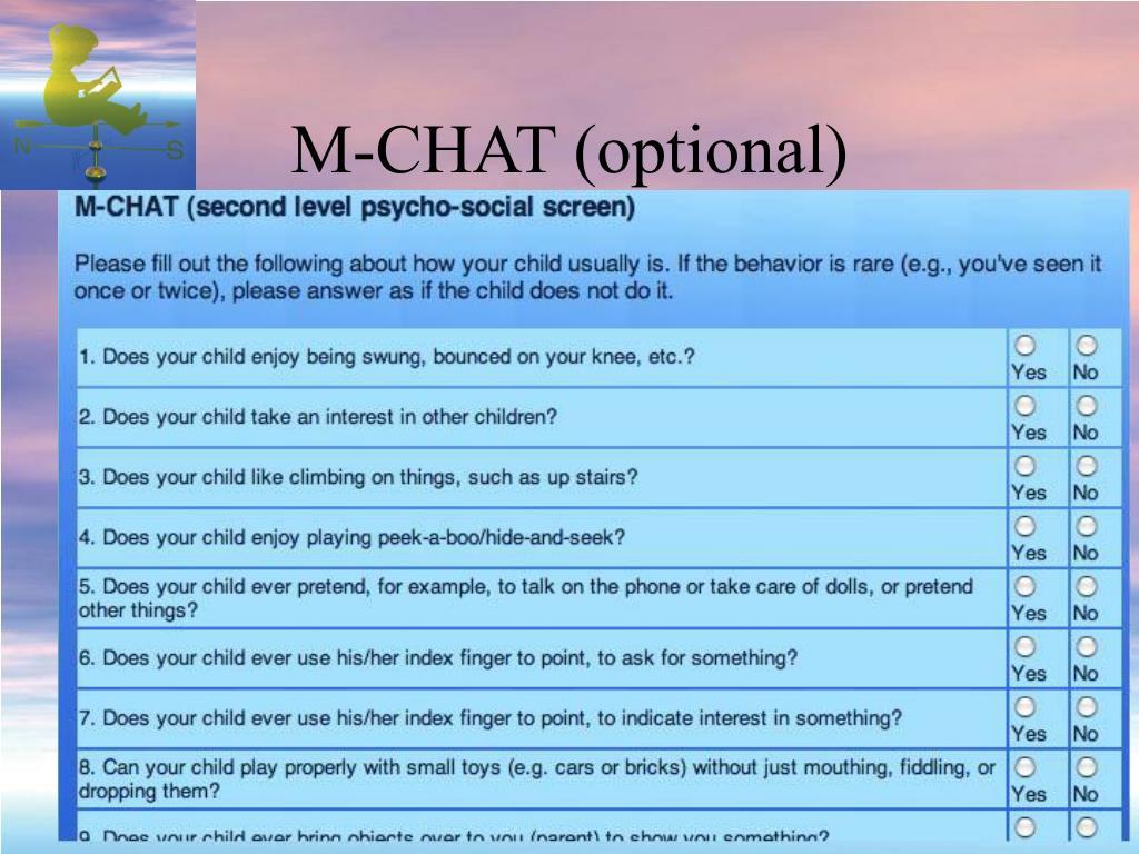 M-CHAT (optional)