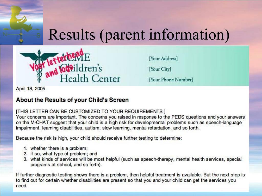 Results (parent information)