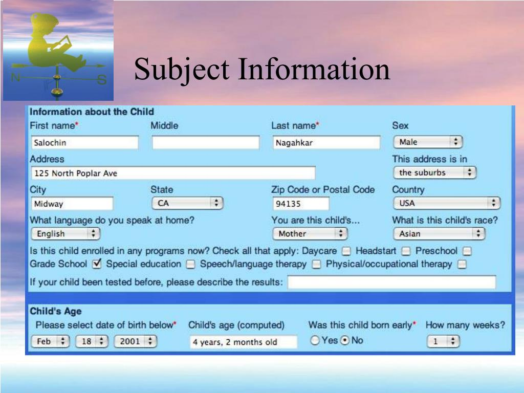 Subject Information