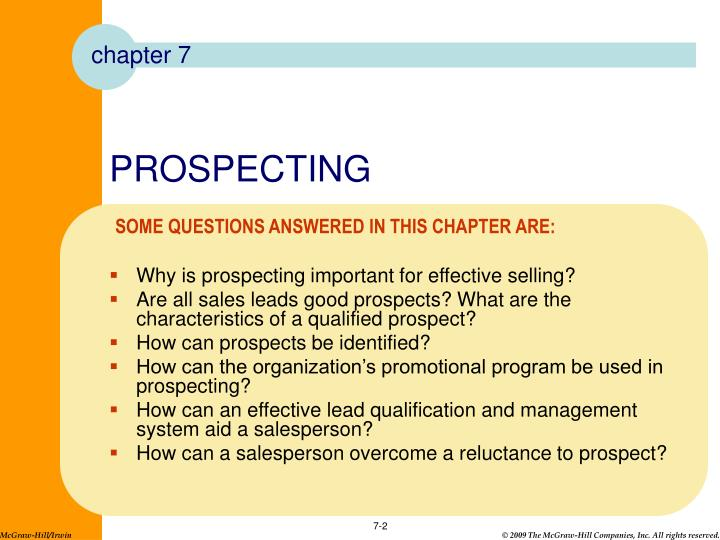why is prospecting important