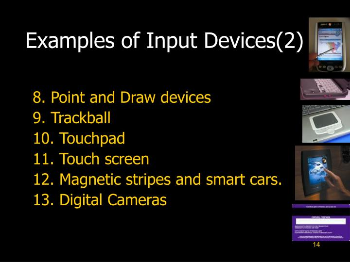 Examples of Input Devices(2)