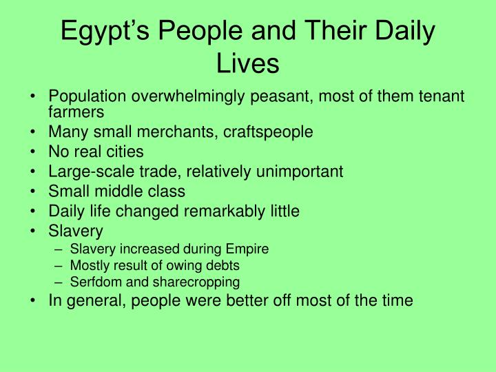 Egypt's People and Their Daily Lives