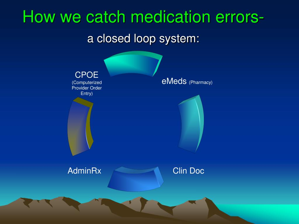 How we catch medication errors-