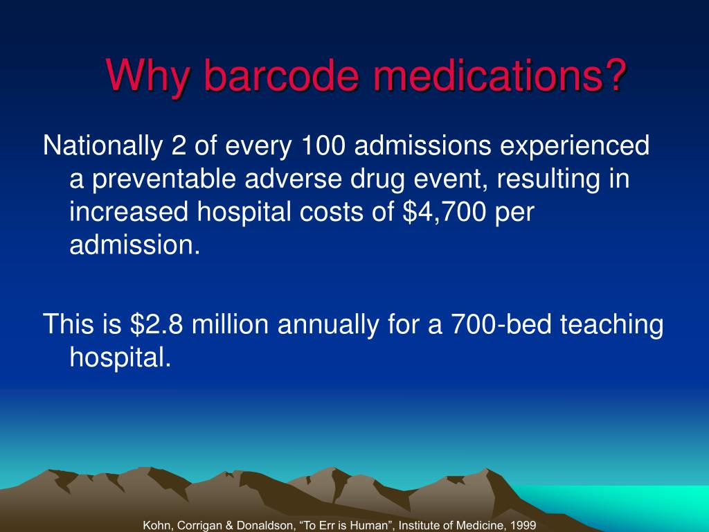 Why barcode medications?