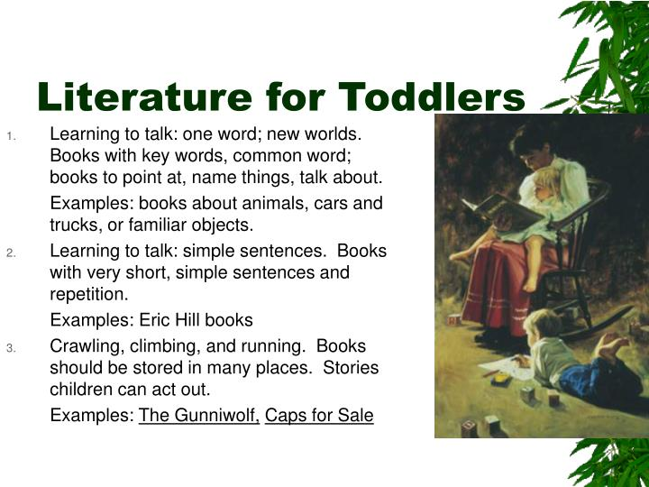 Literature for Toddlers