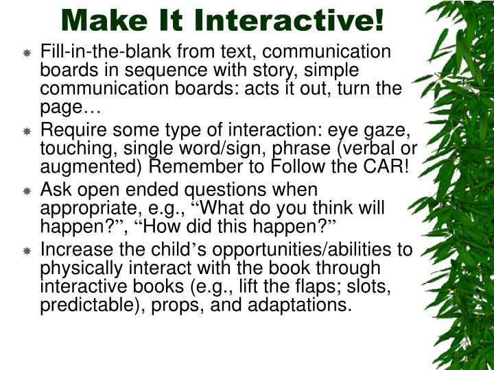 Make It Interactive!