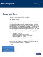 sample letter home