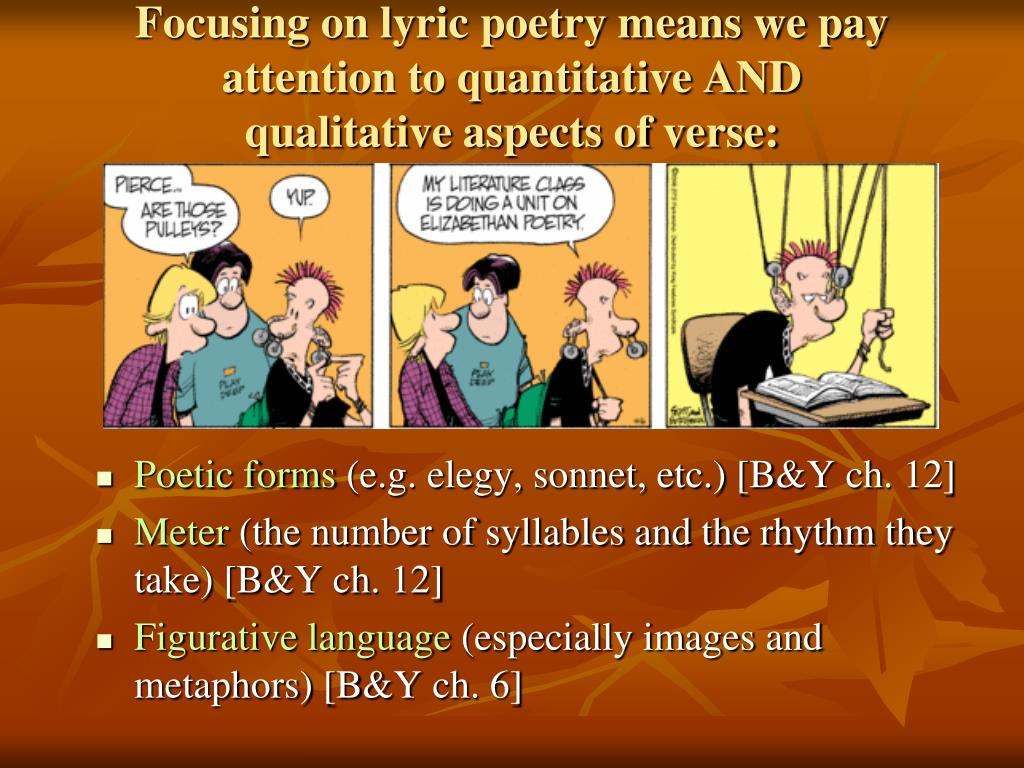 Focusing on lyric poetry means we pay attention to quantitative AND