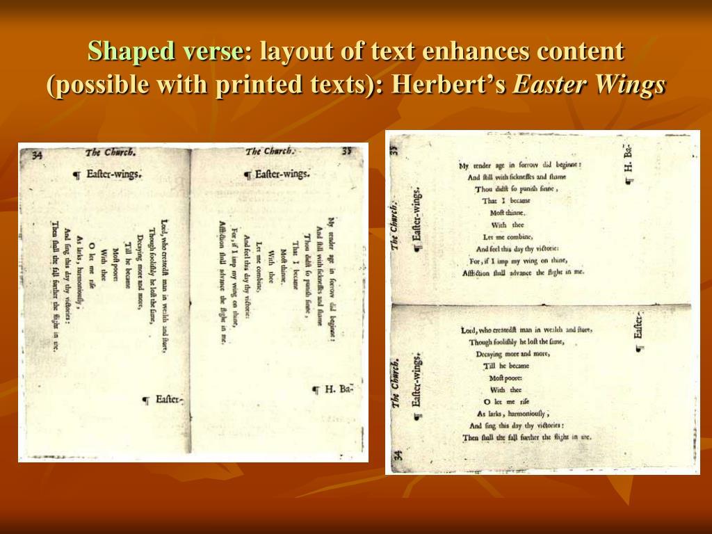 Shaped verse