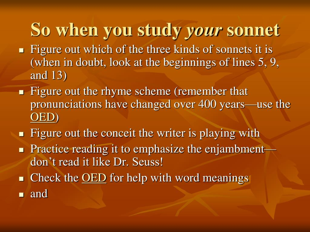 So when you study