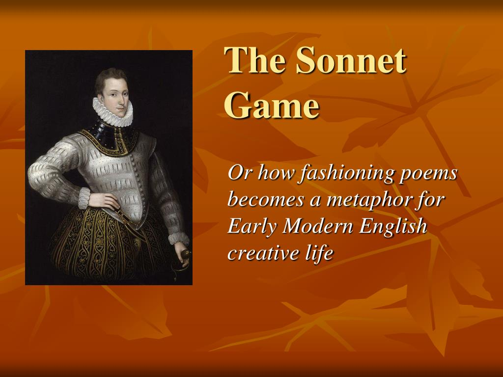 The Sonnet Game