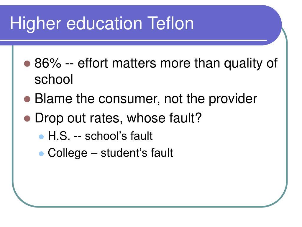 Higher education Teflon