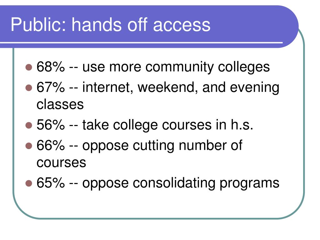 Public: hands off access
