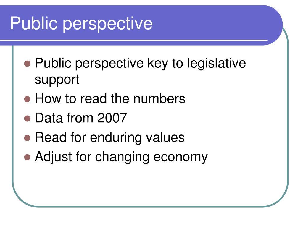 Public perspective