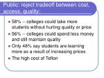 public reject tradeoff between cost access quality