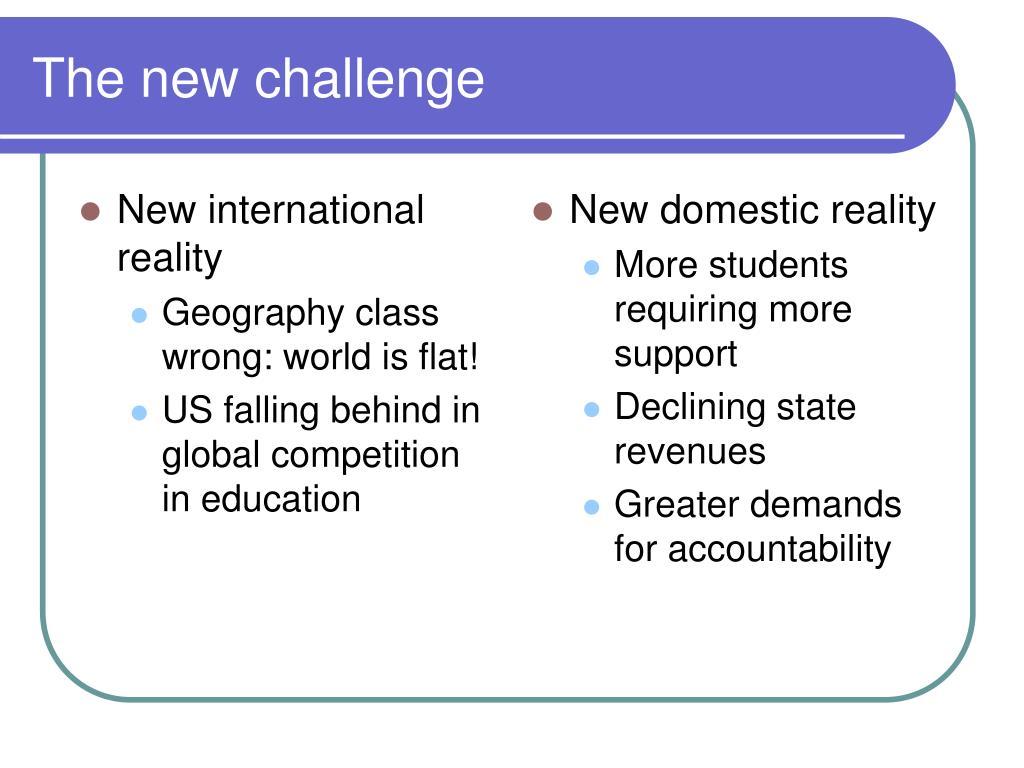 New international reality