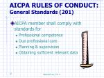 aicpa rules of conduct general standards 201