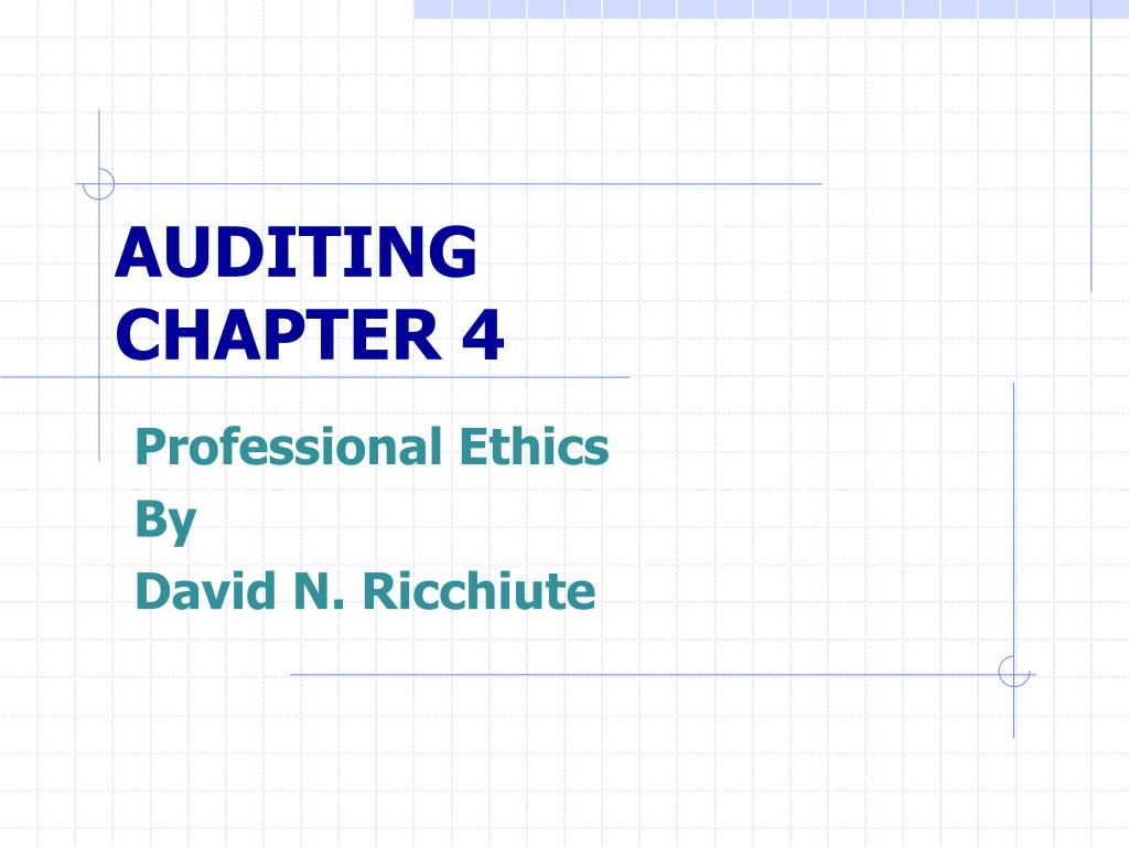auditing chapter 4 l.