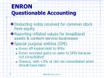 enron questionable accounting
