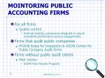 mointoring public accounting firms