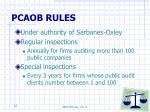 pcaob rules
