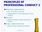 principles of professional conduct 2