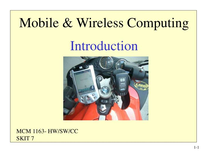 mobile wireless computing introduction n.