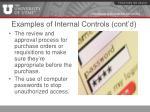 examples of internal controls cont d1