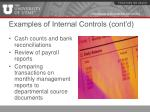 examples of internal controls cont d2