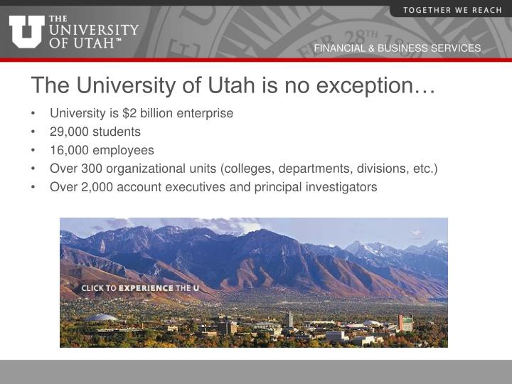 The University of Utah is no exception…