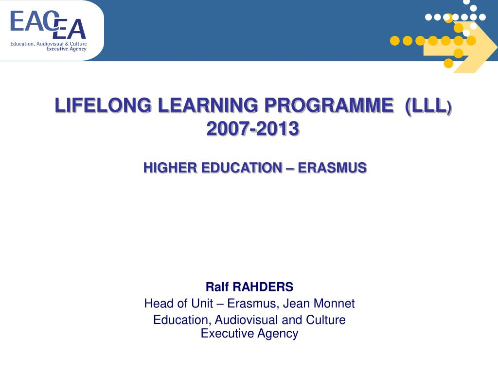 lifelong learning programme lll 2007 2013 higher education erasmus l.