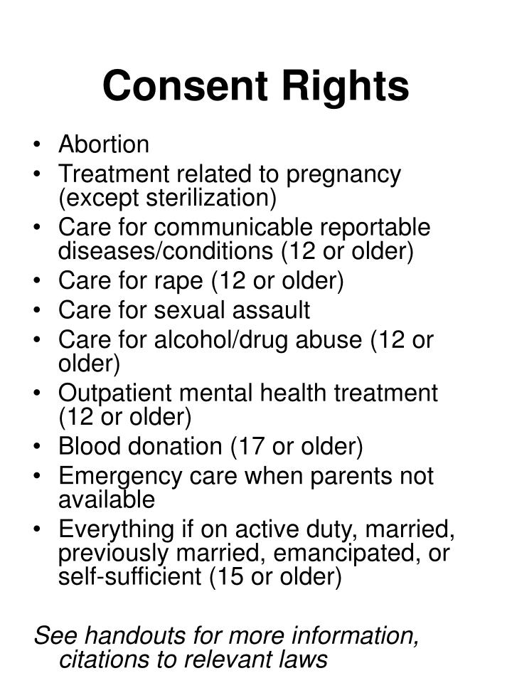 Consent Rights