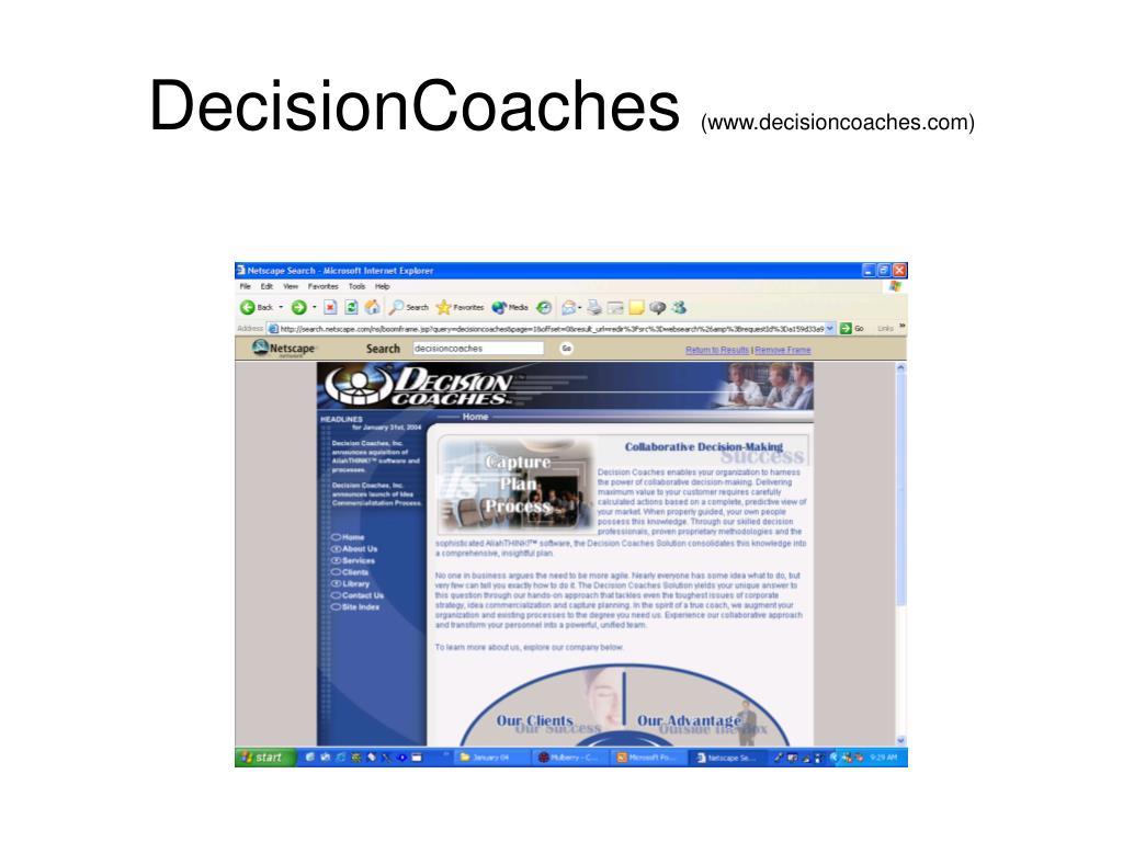 DecisionCoaches