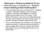motivation reducing medical errors