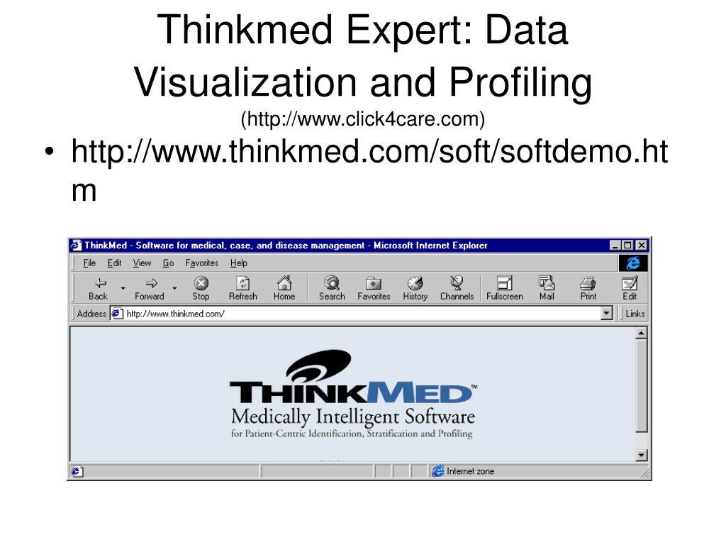 Thinkmed Expert: Data Visualization and Profiling