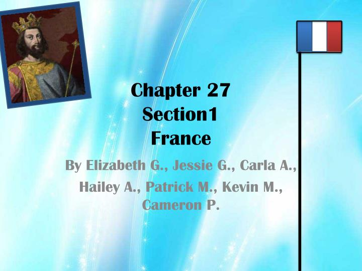 chapter 27 section1 france n.