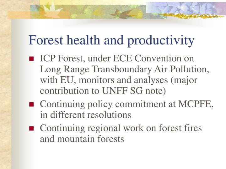 Forest health and productivity
