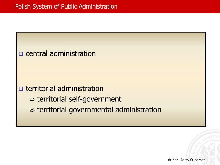 Polish System of Public Administration