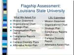 flagship assessment louisiana state university