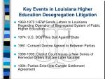 key events in louisiana higher education desegregation litigation