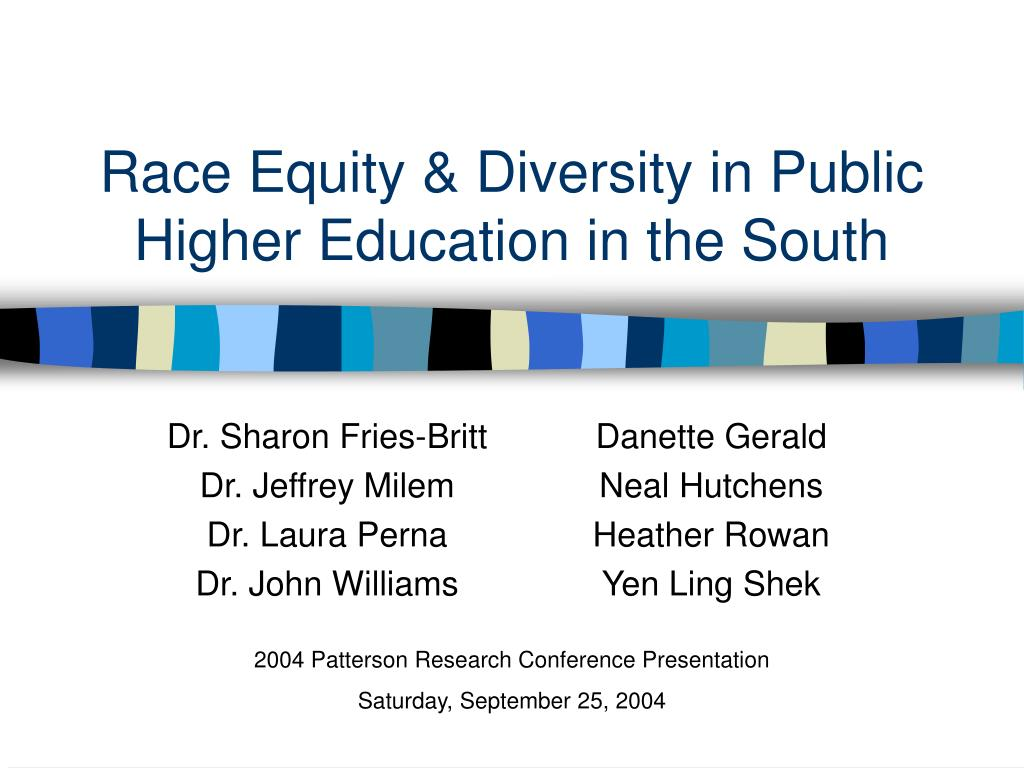 race equity diversity in public higher education in the south l.