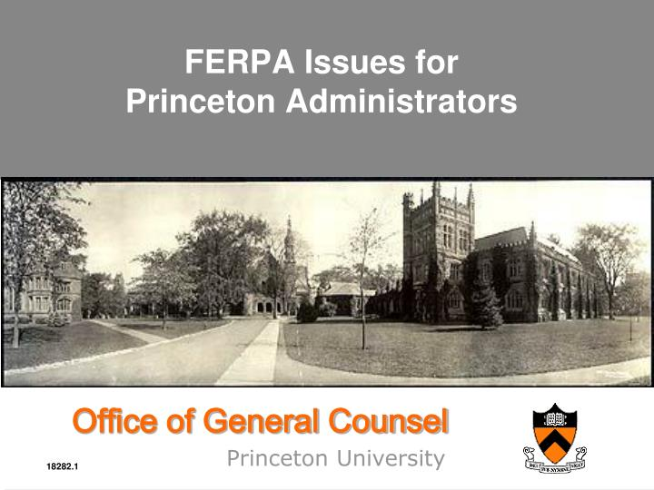 ferpa issues for princeton administrators n.